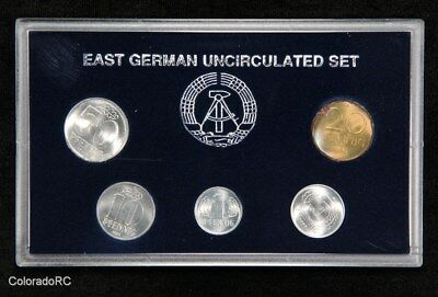 1989 East Germany Uncirculated 5-Coin Set