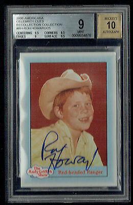 Ron Howard signed autograph 2008 Americana Recollection Collection 1/1 BAS 9