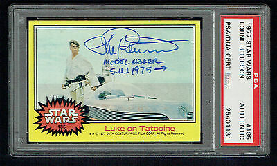 Lorne Peterson signed autograph auto 1977 Star Wars Trading Card PSA Slabbed