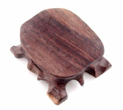 Hard Wood Crafted Tree-Base Shaped Display Stand For Netsuke, Snuff Bottle, Fig