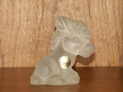 Goebel Frosted Crystal Glass Stubborn Donkey Figurine signed
