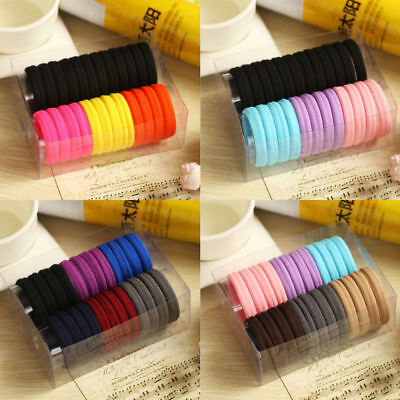 Hot 50Pcs Women Girls Hair Band Ties Rope Ring Elastic Hairband Ponytail Holder