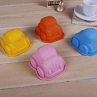 Hot Cute Car Shape Silicone Soap Ice Chocolate Candy Muffin Cupcake Baking Mould