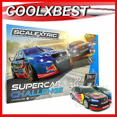 NEW SCALEXTRIC 1:32 v8 SUPERCAR CHALLENGE SLOT CAR SET LOWNDES v GISBERGEN