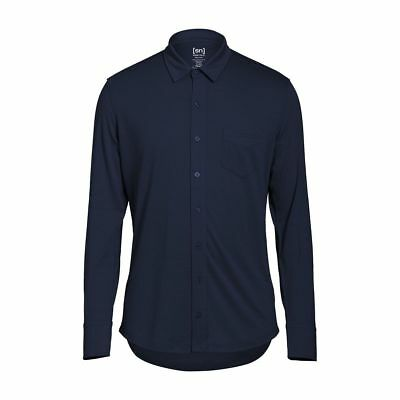 Super.Natural Outlier Button UP Shirt Merino Funktionshemd blau