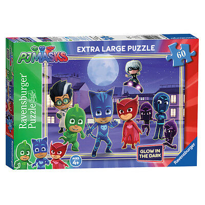 Ravensburger PJ Masks Extra Large Glow in The Dark Jigsaw Puzzle (60 Piece) NEW