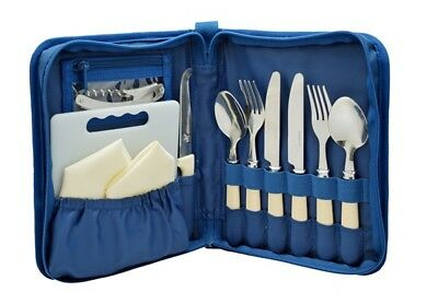Royal 092106 Picnic Dining Cutlery Set 2 Person Spoon Fork Tableware Table