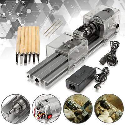 80W 24VDC Mini Lathe Beads Polisher Machine Table Saw Bench Drill Woodworking