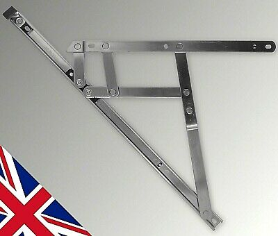 """24"""" 600mm Top Hung 13mm Window Friction Hinges One Pair stays upvc pvc Glazing"""