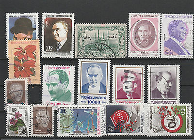 Turkey Mix canceled Postage Stamps Stamps Los Right 2583