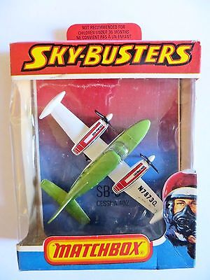 Matchbox Skybusters Sb9 'cessna 402'.  Mib/boxed. Superfast Wheels.