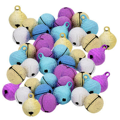 50pcs Assorted Color Jingle Bells Pendant Charms for Christmas Decoration