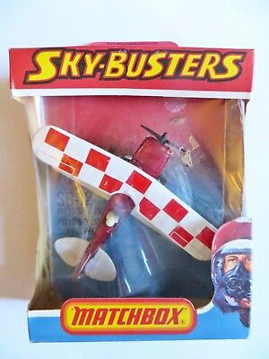 Matchbox Skybusters Sb12 'pitts Special Bi-Plane'.  Mib/boxed. Superfast Wheels
