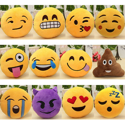 Emoji Smiley Emoticon Cushion Home Decorative Pillow Stuffed Plush Toy Doll UK