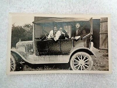 Vintage 1930's Early Automobile Car Photograph Picture Warren County Ohio
