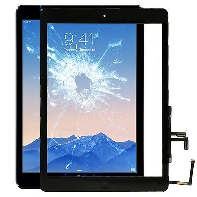 Apple Ipad Air Black Display Display Glass Touch Screen+Home Button Windscreen