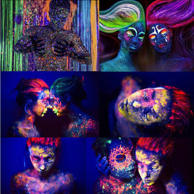 Party Halloween FACE BODY PAINT 13ml Fluorescent Rave Festival Painting Fashion