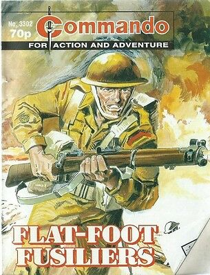 Flat-Foot Fusiliers,commando For Action And Adventure,no.3302,war Comic,2000