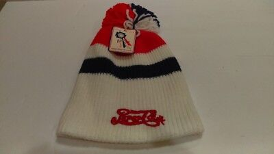 1980's Vintage Pepsi-Cola Winter Skiing Knit Hat Mint With Pedigree Knit Tag