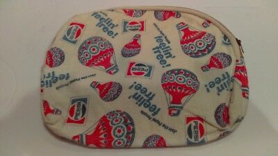 "Vintage 1974 Pepsi Feelin Free Join The Pepsi People Small Zipper Bag 9"" x 7"""