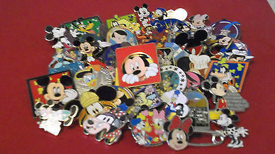Lot of 50 Disney Trading Pins--No Doubles--Free US Shipping--9J
