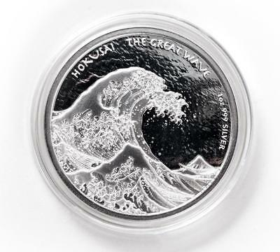 2017 1oz Fiji Hokusai Great Wave Off Kanagawa .999 Silver Coin BU #A410