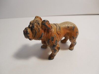 Cast Iron Brown Bulldog~Measures: 2 x 3 Inches ~ Marked: Endless Caverns, Va.