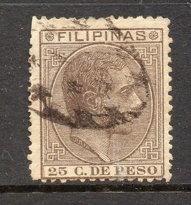 Philippines 1880s Classic Alfonso Used Value 25c. 182443