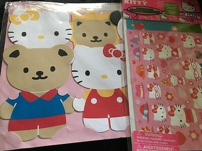 Hello Kitty Stationery Set With Stickers New