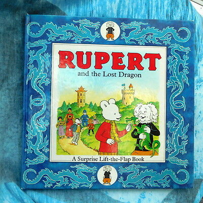 Highly collectable vintage Rupert hard back lift-the-flap book vgc