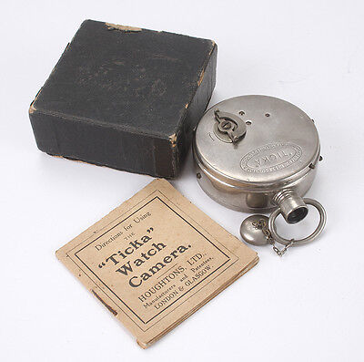 HOUGHTON TICKA WATCH CAMERA  BOXED WITH INSTRUCTIONS/cks/189067