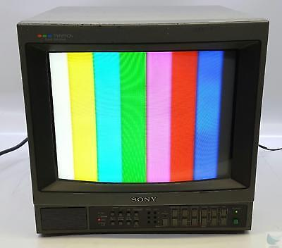 """Sony PVM-1344Q 13"""" CRT Color Video Monitor TESTED & WORKING"""