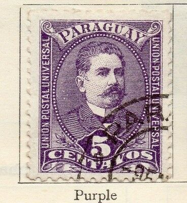 Paraguay 1892 Early Issue Fine Used 5c. 181401