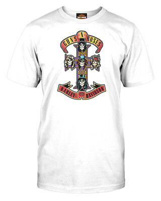 0e0244a0698 HARLEY-DAVIDSON MEN S GUNS N  Roses AFD Cross Short Sleeve T-Shirt ...