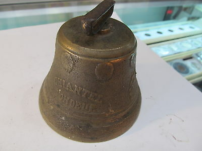 Antique Brass Bell Chiantel Foundeur 1878 Saicnelecier