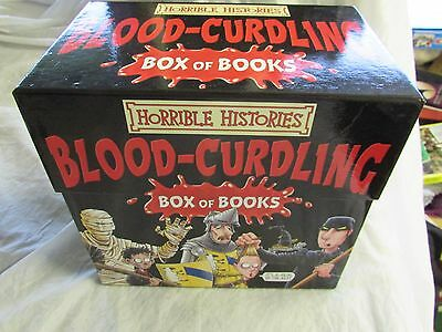 *!!* Brilliant HORRIBLE HISTORIES Blood Curdling Box of Paperback Books FREE P+P