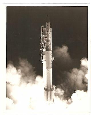 Vintage 1960's? Nasa Usaf Black & White 8X10 Photo--Delta Missile Rocket Launch!