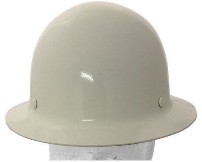 MSA Skullgard Full Brim Hard Hat with Ratchet Suspension - White