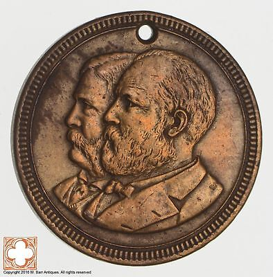 1880 J.A. Garfield & C.A. Arthur Campaign Token *Condition: Hole *6838