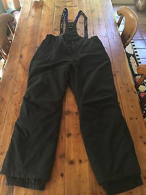 LL BEAN OUTDOORS Men's Thermore Waterproof Black Bib Snow Pants- Sz XL- Ret $149