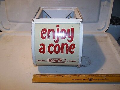Vintage EAT IT ALL Wall Mount Ice Cream Cone Holder