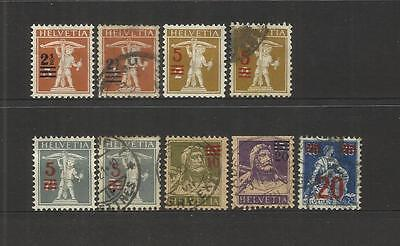 Switzerland ~ 1921 O/p Surcharges Definitives