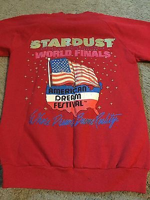 Nice men's women's adult size S Small Stardust Casino Las Vegas sweatshirt red