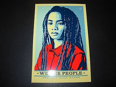 "SHEPARD FAIREY Obey Giant Sticker 3.5X5.25"" WE THE PEOPLE PROTECT poster print"