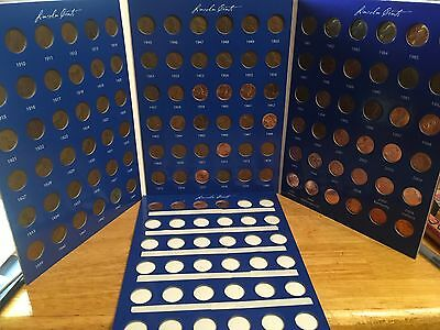 1909 - 2018 Lincoln Cent Date Set; All Years of Issue in Full Color Coin Folder