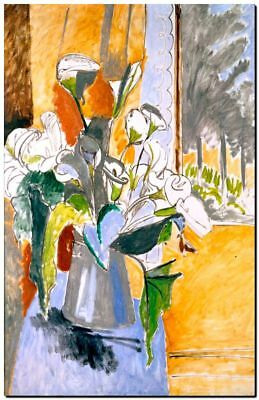 Henri Matisse CANVAS PRINT Bouquet of Flowers on a Veranda Painting poster A4
