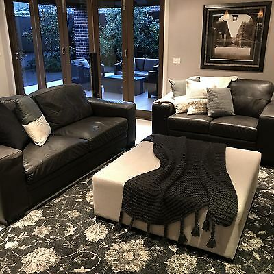 3 Seater And 2 Seater Leather Couches