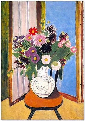 Henri Matisse CANVAS PRINT Daisies in Window Painting poster A4