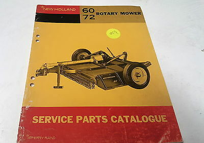 1969  NEW HOLLAND 60 72   ROTARY MOWER   Parts Book