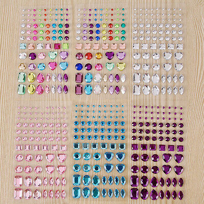 Self Adhesive Rhinestone Crystals 81Pcs Flat Back Gems Cardmaking Scrapbooking
